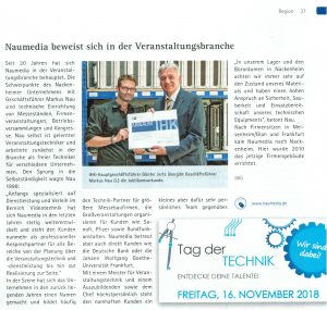 Naumedia Jubiläum IHK Bericht IHK Rheinhessen Report 10/2018 - Seite 37