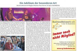Naumedia Jubiläum JournalLOKAL Ausgabe 11_2018